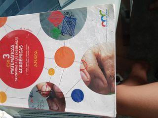 Libro matemáticas académicas 3°eso Anaya