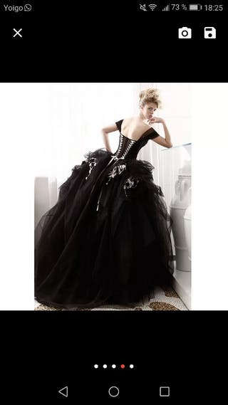 Vestido de novia negro. Gothic. tipo gótico.