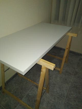escritorio tablero caballetes