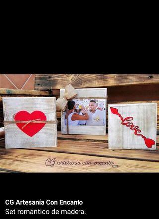set romántico 3 piezas cuadrado o con punta