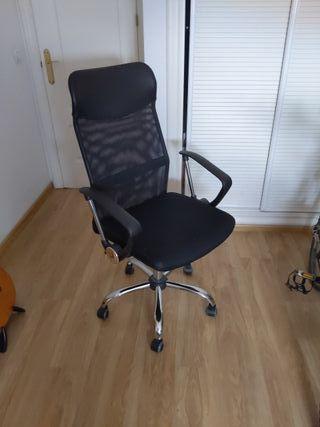 Silla de oficina/estudio alta y ergonómica