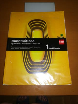 libro de matemáticas de 1 BACH