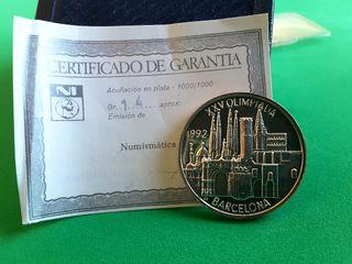 Moneda Olimpiadas Barcelona 92 en plata
