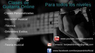 Clases de guitarra online(Skype)