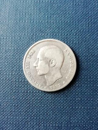 Moneda peseta de Alfonso XII