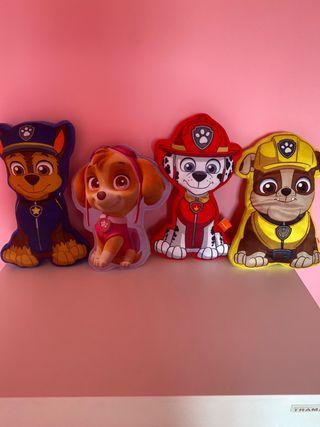 4 cojines patrulla canina