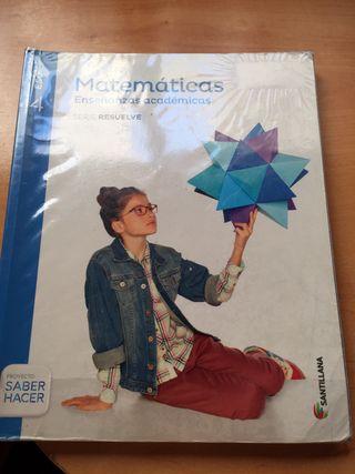 Libro matemáticas 4º Eso Santillana