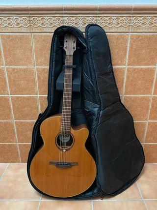 Guitarra acústica LAG y accesorios
