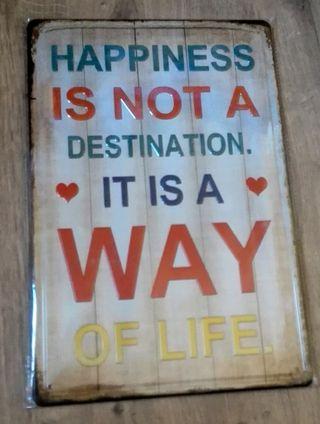 Cartel grande. La felicidad es el camino