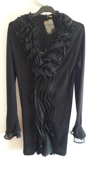 chaqueta negra de fiesta, talla M, sin estrenar