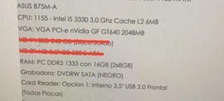 Ordenador / PC - i5 - 16gb RAM
