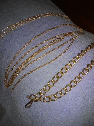 Cadenas para bolsos doradas.