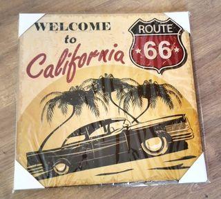 Cuadro bienvenidos a California.