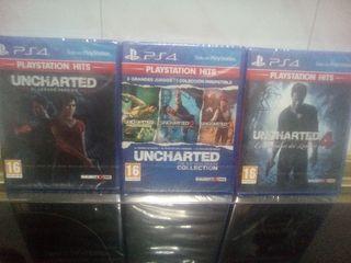 Colección Uncharted nuevos precintados Ps4