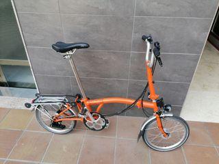 bicicleta plegable Brompton b
