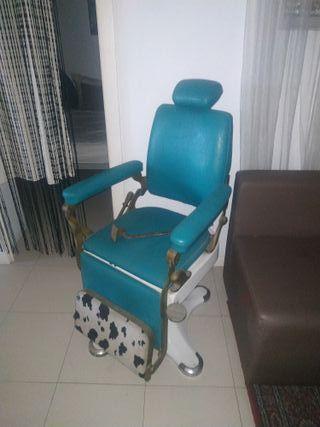 silla de peluquero marca triumf americana vintage