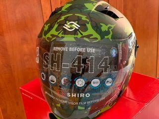 Casco nuevo Shiro SH 414 camuflaje talla xl