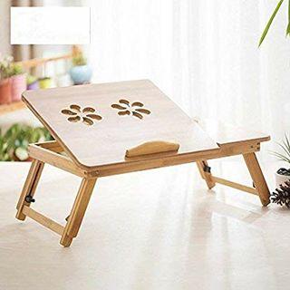 Mesa para ordenador portatil bambu