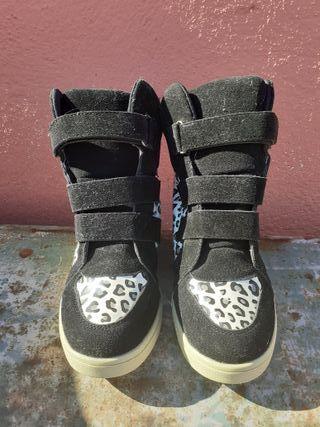 botines negros leopardo