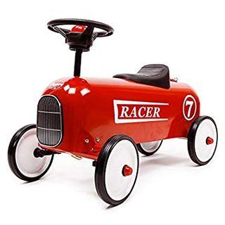carrito de juguete para bebe de color rojo
