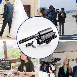 D-598 micrófono de cámara de 3,5mm receptor audio