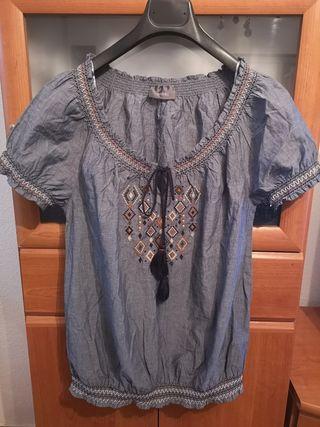 Camisa vaquera engomada