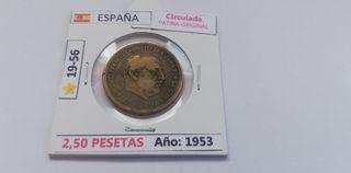 2,50 Pesetas. (Año 1953) 19-56*