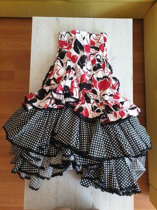 Vestido de sevillanas rojo (falda + body)