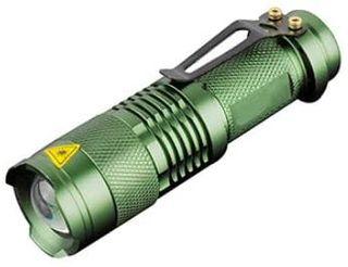 Mini linterna Verde Led zoom Q5 1000LM
