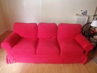 Sofá cama Ikea rojo
