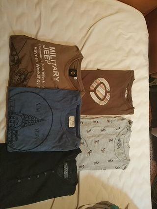5 Camisetas talla S