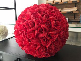 Bolas decorativas pétalos de rosa