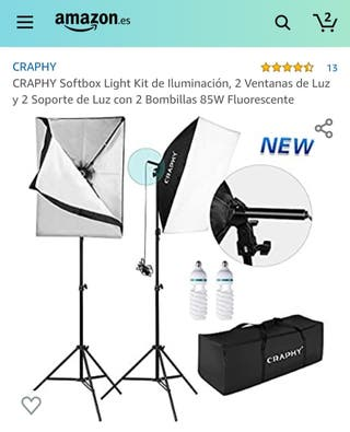 Dos ventanas de luz (softbox) iluminación estudio