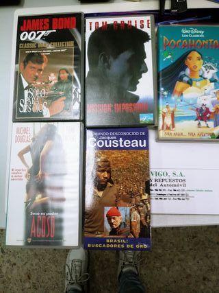 CINTAS VHS COLECCIÓN 007 Y YACK CUSTO