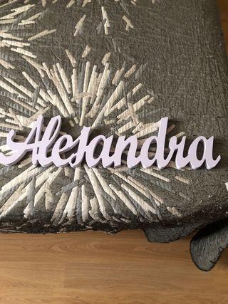 Nombre Alejandra 47 cm