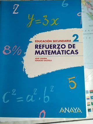 Refuerzo de matemáticas 2° ESO sin estrenar