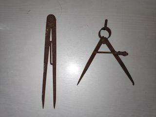 Compás antiguo 2 Lote compases