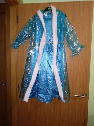 disfraz princesa Frozen. vestido y capa. talla 6-9