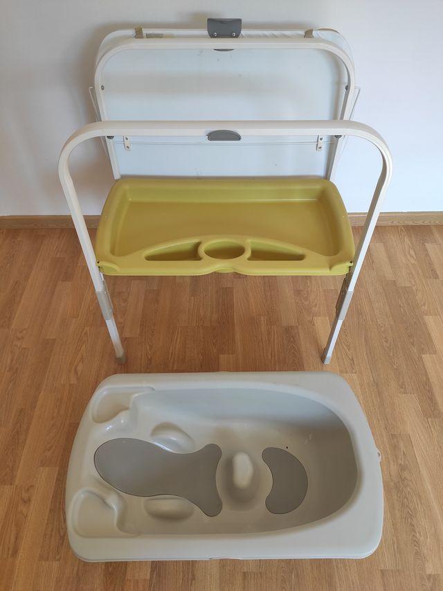 Bañera cambiador plegable JANÉ FLIP para bebé