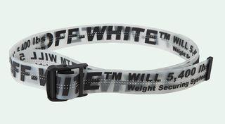 Cinturon de off white transparente