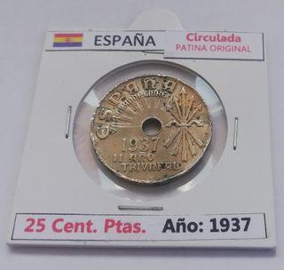 25 Centimos de Peseta (Año 1937)