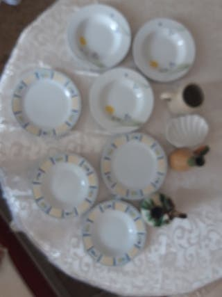 lote platos i jarrones