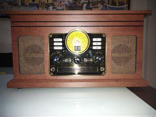 Aparato de musica estilo vintage