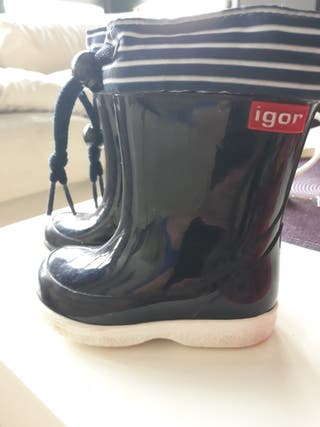 botas agua niño 21