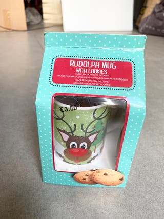 Rudolph mug taza