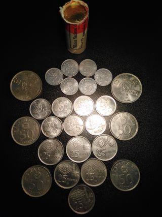 Lote de monedas, todas del Mundial'82