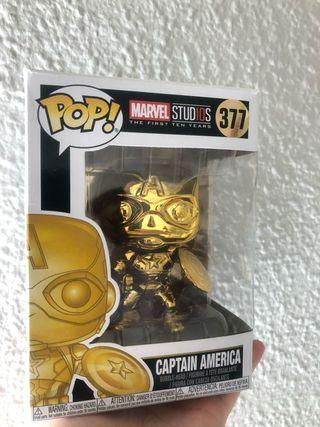 Funko Pop Capitan America oro