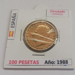 100 Pesetas (Año 1988)