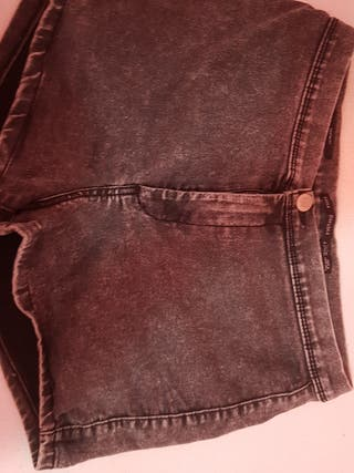 pantalones cortos negros/grises
