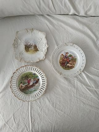 3 platos decorativos
